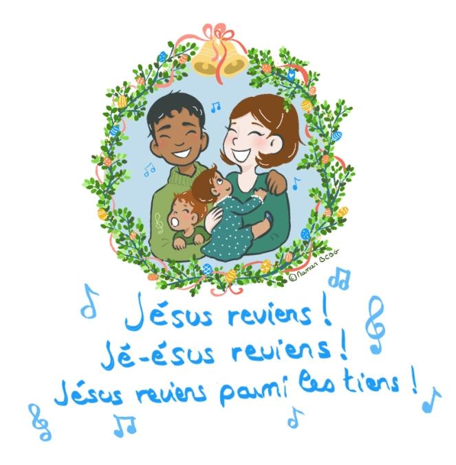 Jésus reviens parmi les tiens famille Joyeuses Pâques