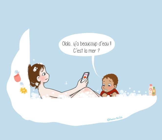 Maman BCBG blog - Bain de mer