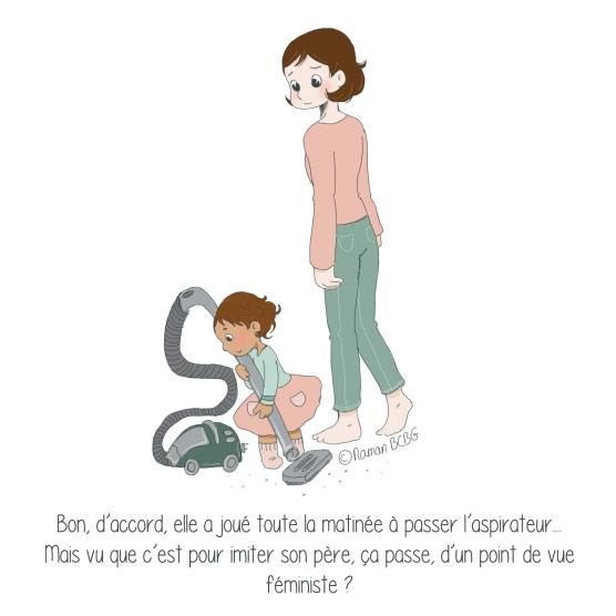 Maman BCBG blog - feminisme et aspirateur