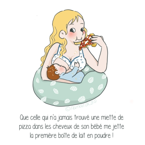 Maman BCBG blog - Allaitement et pizza